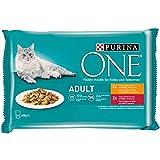Purina ONE Comida húmeda para Gato Adulto filetes en Salsa con Pollo 4 x 85 g