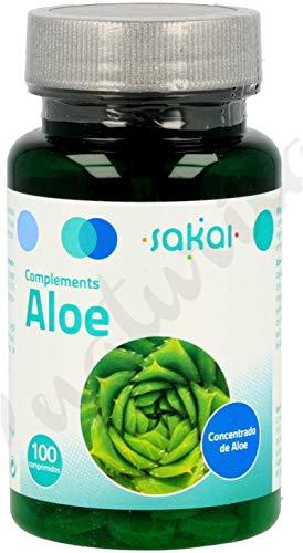SAKAI Aloe Vera 200 Comprimidos Pack de 2 (100 + 100) regula el tránsito intestinal, efecto détox, limpieza de colon, contra el estreñimiento, desintoxica el organismo.