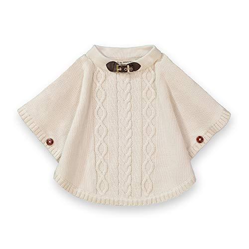 Hope & Henry Girls' Sweater Cape Ivory