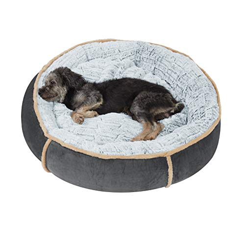 BingoPaw weicher Hundekorb, Hundebett Katzenbett mit Kissen, waschbar hygienisch und rutschfest Hundesofa und kuscheligem Plüsch, XL-S Größe und Farbe wählbar