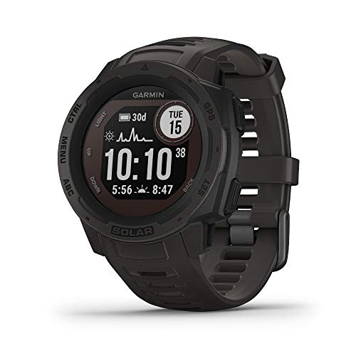 Garmin Instinct Solar GPS hiking watch available on Amazon