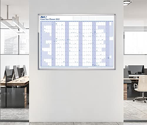 Mark-it 2022 Wall Planner – Giant Laminated Wall Calendar – 84cm X 117cm – A0 Size Wall Planner – Great For Offices, Businesses and Schools