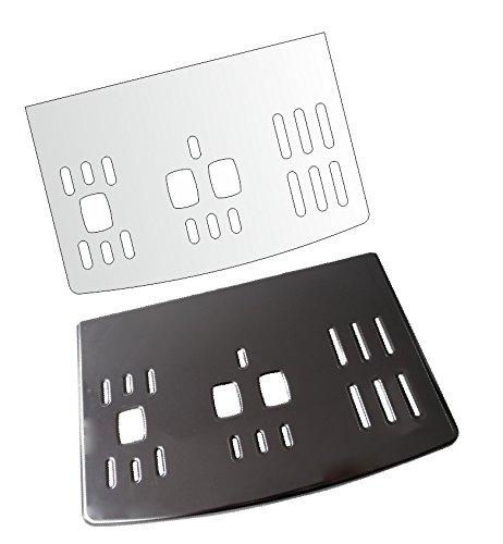 3 x Schutzfolie für DeLonghi PrimaDonna S Evo ECAM 510.55 M & 516.45 MB - Abtropfblech - Tassenablage - Abstellblech
