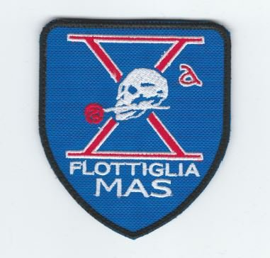 Patch, parche, bordado–flottiglia Mas de Italia Lotta flotador unidad especial italiano Marine Control Buceo Ed incursori flotta tauchern