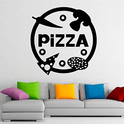 Tianpengyuanshuai pizza muur vinyl zelfklevende pizzeria sticker design huis keuken decoratie afneembare lekkere muur decoratie raam