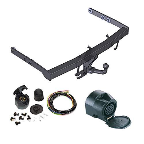 ATTELAGE avec faisceau 13 broches | Ford Galaxy / Seat Alhambra / VW Sharan de 1995 à 2000 / crochet «col de cygne» démontable avec outils