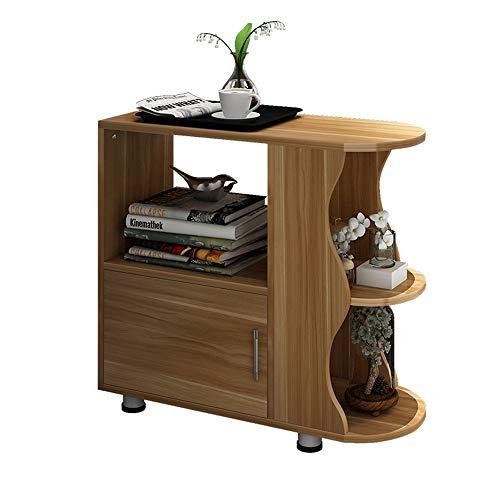 Tables FEI - Bureau d'ordinateur Basse en Bois Canapé d'appoint Support d'imprimante Étagère à 3 Niveaux de Chevet avec Support de Fleurs pour Tous Les postes de Travail (Couleur : A)