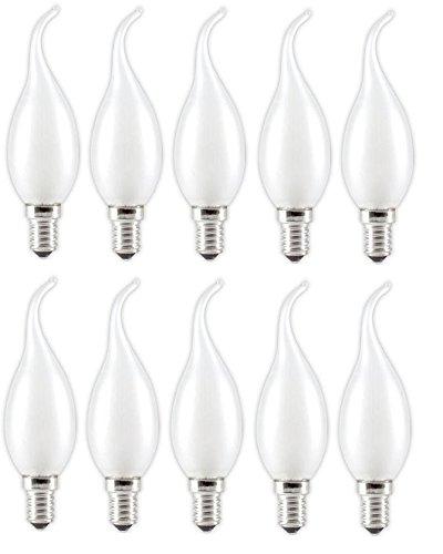 10 x Glühlampe Glühbirne Kerze Windstoß E14 25W 25 Watt matt 230V