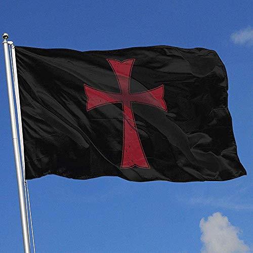 Not Applicable Outdoor Garden Flag,Tempelritter Kreuzritter Kreuz Doppelseitig Bedruckte Gartenfahnen Für Home Holiday Decor 180cmx120cm