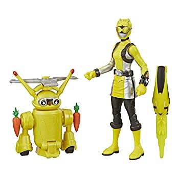 Power Rangers Beast Morphers Yellow Ranger and Morphin Jax Beast Bot 6-Inch Action Figure 2-Pack Toys Inspired by The TV Show