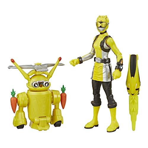 Power Rangers Beast Morphers Yellow Ranger und Morphin Jax Beast Bot 15 cm Actionfigur 2er Pack Spielzeug inspiriert vom Power Rangers TV Programm