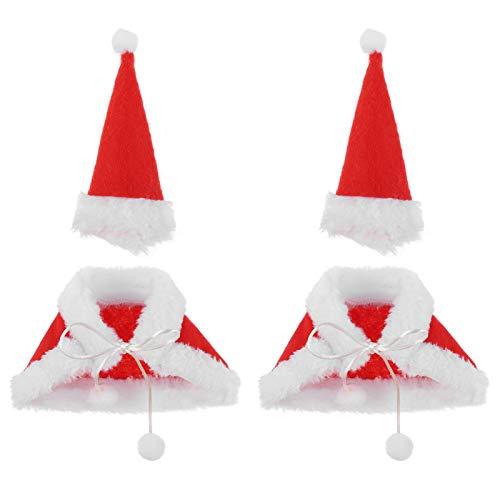 PRETYZOOM 4 Piezas de Suéteres de Botellas de Vino para El Soporte de Botellas de Navidad Cubre Los Trajes de Suéter de Criterion-Botella de Vino de Navidad Funda de Felpa Botella Creativa