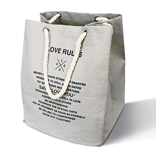MgDa(メダ) 洗濯かご ランドリーバスケット 取って付き 撥水 大容量 折り畳み式 綿麻生地 収納ボックス 軽量 省スペース (24L グレー)