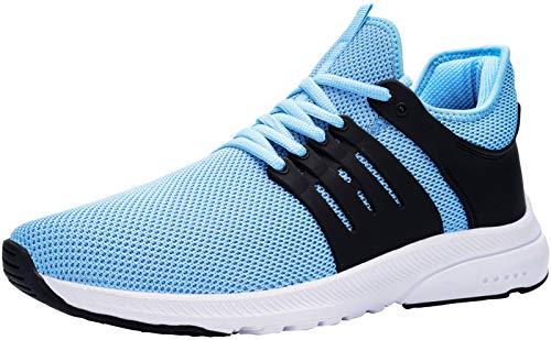 DYKHMILY Arbeitsschuhe Damen Wasserdicht Ultraleicht Stahlkappe Sicherheitsschuhe Sportlich Atmungsaktiv rutschfest Sicherheitssneaker (Blau,42 EU)