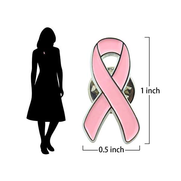 Masonicbuy Pink Ribbon Breast Cancer Awareness Lapel Pin Color 2