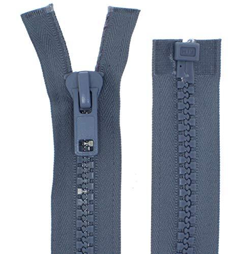 zipworld Reißverschluss Kunststoff GROBE Zähne 8mm Reißverschlüsse für Zelt,Planen, Outdoor usw. (Mittelgrau - 319, 160cm)
