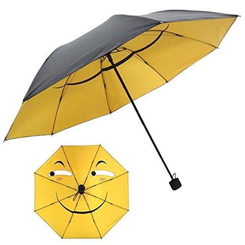 Bureze Funny Face Emoji - Paraguas Plegable para niños con protección UV