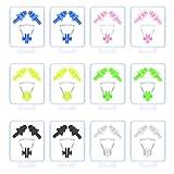 LAITER 12 Set Tappi Orecchie e Clip per Naso Antirumore Forte Silicone Impermeabile per Dormire/Nuotare/Riposo Gestante Disegno a Spirale 6 Colori Incontro Riutilizzabile