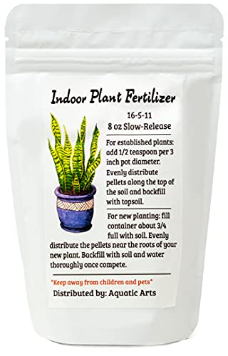 Indoor Plant Food (Slow-Release Pellets) All-purpose House Plant Fertilizer | Common Houseplant Fertilizers for Potted Planting Soil | by Aquatic Arts