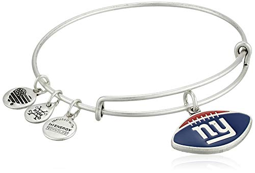 Alex and Ani Damen Color Infusion New York Giants Football II EWB Armband, Rafaelian Silber, erweiterbar