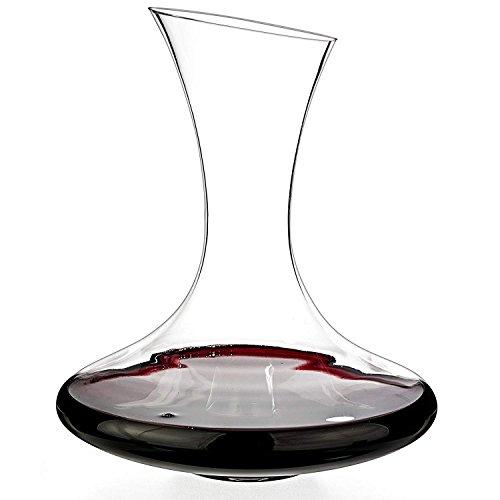 Carafe à Décanter le Vin en Cristal, Carafe à Vin Rouge, Carafe de Décantation sans Plomb, Aérateurde de Vin Accessoires du Vin - 1000ML