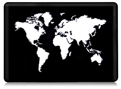World Map Hard shell Case for Macbook Pro 13 Inch 2020-2016 Release Matte 3D Carve cover Models : A2159 A1989 A1706 A1708 RQTX –(World Map)