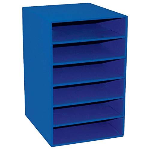 Classroom Keepers 6-Shelf Organizer, Blue (001312)