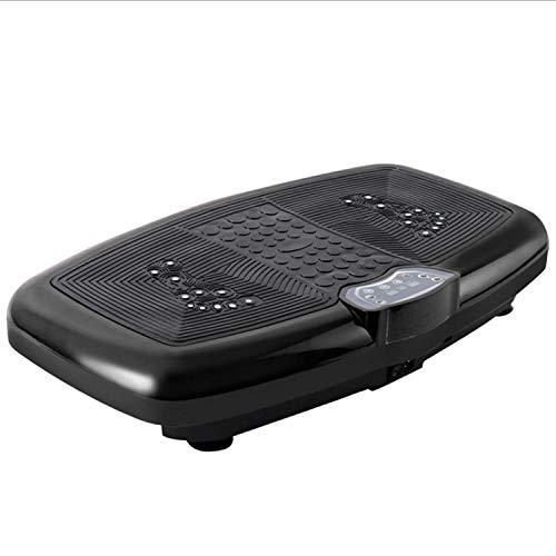 B/H Plataforma Vibratoria 3D para,Máquina Inteligente de rechazo de Grasa de Terapia magnética, máquina de Modelado de Cuerpo de vibración Ultrafina-Negro,Plataforma Vibratoria Ultra Slim