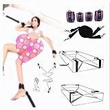 forocean Cinturón Ajustable Fashion Open Cùpless Brǎ Restraínt Strâp Set con Collar Clip de Acero Inoxidable Gargantilla de Cuero Accesorios para el Cuerpo para Mujer