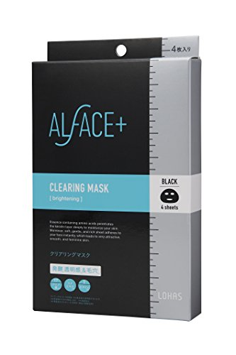 ALFACE(オルフェス) シートマスク クリアリングマスク 4枚入り箱 フェイスマスク 4シート(x 1)