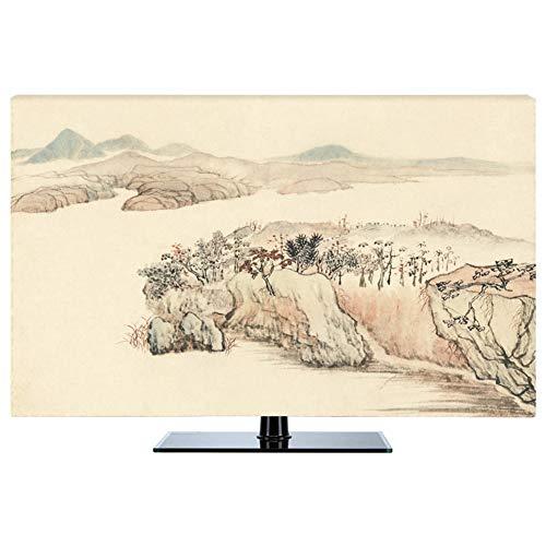 LIUDINGDING-zheyangwang Cubierta de TV Nuevo Chino A Prueba De Polvo Protege Los Televisores TV LCD Display (Color : Spring River, Size : 43inch)