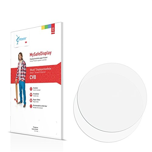 2x Vikuiti MySafeBildschirm CV8 Bildschirmschutz Schutzfolie für Cogito Pop (Ultraklar, strak haftend, versiegelt Kratzer)