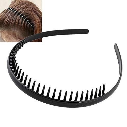 Neue Metallbekleidung Schwarzes Zahnsport-Haarband Fußball-Stirnband Männer-Haarspange , Reiner schwarzer Acryl-Zahnbügel, Gesichtsmaske, glänzendes Stirnband