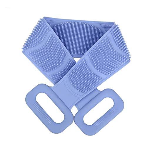 dailymall Cepillo de Masaje de Cinturón de Baño de Herramienta de Limpieza Corporal de Depurador Trasero de Silicona - Azul