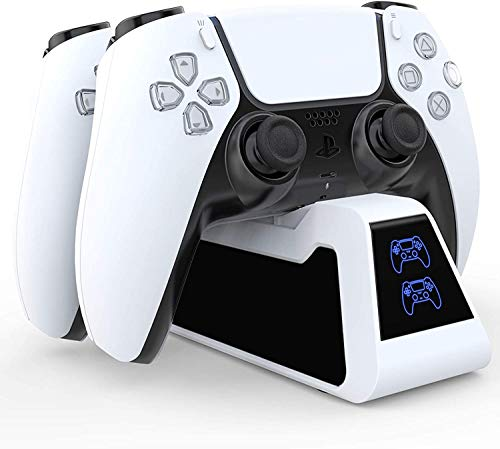 Dualsense Charging Station for Playstation 5, Dualsense Charging Dock for New PS5 Controllers- Playstation 5 Controller Charging Dock, Brand New Design Exclusively for PS5