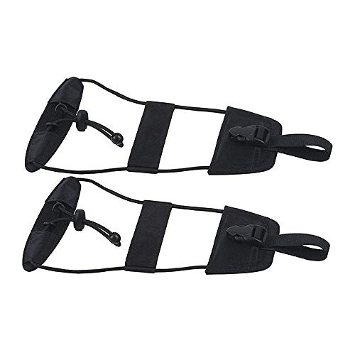Kimmyer 2 Pack Bag Bungee Luggage Straps Suitcase Adjustable Belt - Lightweight and Durable Travel Bag Accessories - Can machine washable (Black)