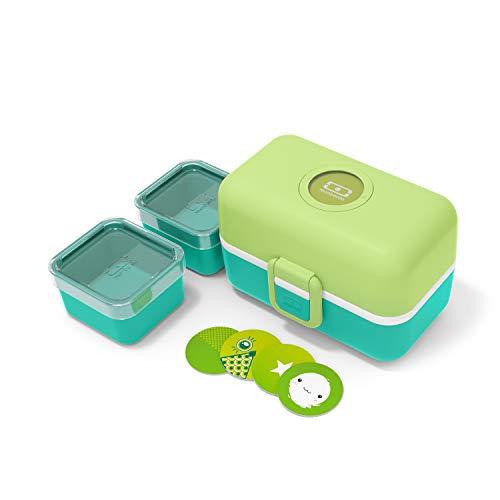monbento - Lunch Box Enfant - Boite bento Repas ou goûter - sans BPA - Durable et sûre (Lunch box enfant, Vert Apple)