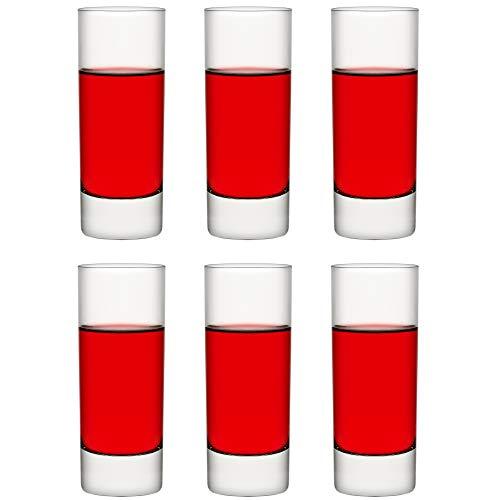 Libbey Vaso de trago corto Chicago – 70 ml / 7 cl - 6 Unidades - Vaso de trago corto - Vaso para degustación - Vaso para postre - Aperitivo - Apto para lavado en lavavajillas