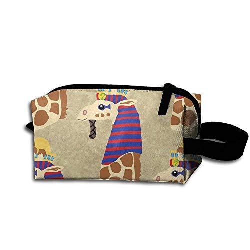 Travel Makeup Pharaoh Giraffes Beautiful Waterproof Cosmetic Bag Quick Makeup Bag Pencil Case