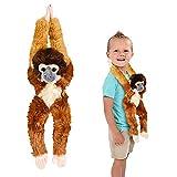 ArtCreativity Hanging Squirrel Monkey Plush...