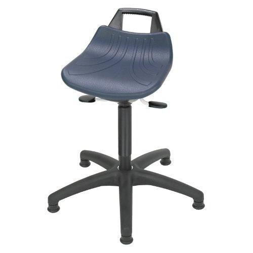 Lotz Stehhilfe extrem bequem durch hochgezogene Rückenlehne und großem Sitz PU blau