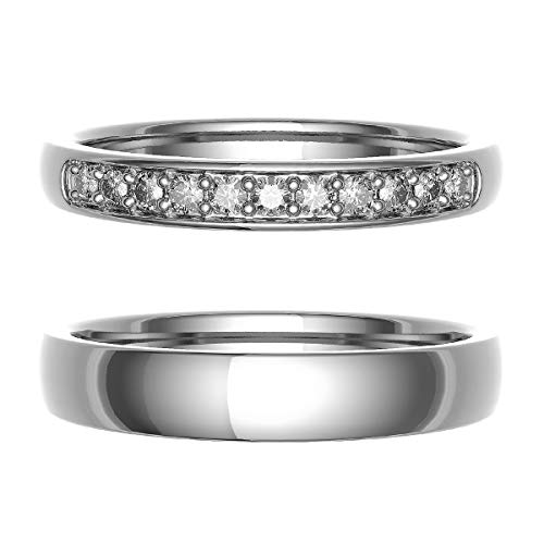 [ココカル]cococaru ペアリング 結婚指輪 K10ゴールド 2本セット マリッジリング 日本製 (レディースサイズ4号 メンズサイズ6号)