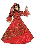 Ciao Principessa Spagnola Costume Bambina, Rosso, 4-6 Anni