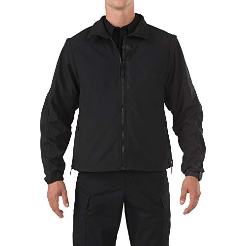 5.11 Tactical Valiant Veste softshell légère coupe-vent pour homme Style 48167, Homme, 48167, Noir , xxl