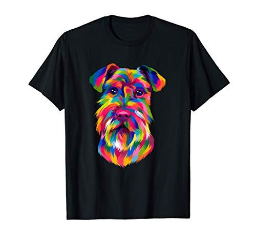 Pop Art Schnauzer Veneno Hombres Mujeres Niños Amantes de Camiseta
