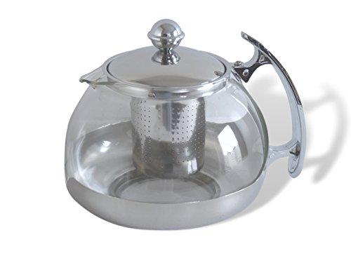 Tetera de cristal 1,2l, con filtro de acero inoxidable de té Filtro Colador de té tetera tetera eléctrica