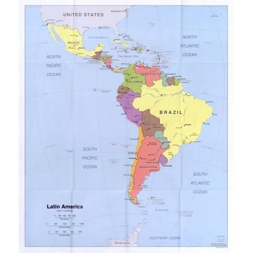 Latin America Map: Amazon.com