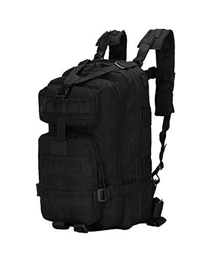 XIYUN Mochila militar táctica de asalto militar Molle resistente al agua, bolsa pequeña al aire libre, senderismo, camping, caza, color negro