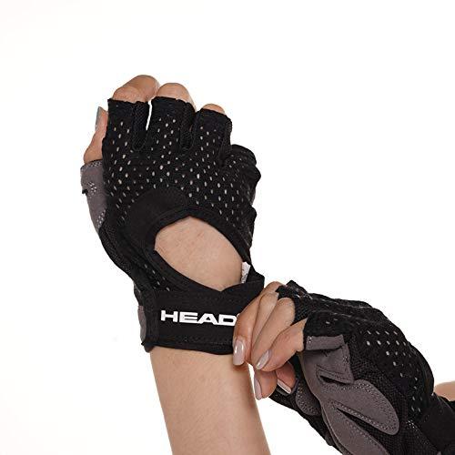 HEAD Handschuhe zur Unterstützung des Gewichthebens am Handgelenk mit rutschfestem Handflächenschutz für Männer, Frauen, Krafttrainingshandschuhe für das Training im Fitnessstudio