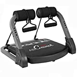 Deckey Core & Abs Exercise Equipment, Total Body Muscle Workout Machine for Strength Workout Training, Home Gym Fitness Equipment for Weight Loss with Resistance Bands & Fitness Guide, Black